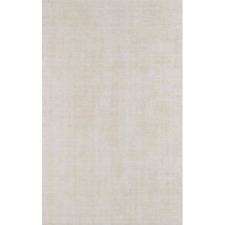 Berkley Foyer Area Rugs - LR100 Contemporary Ivory Viscose Solid Rows Wool Rug