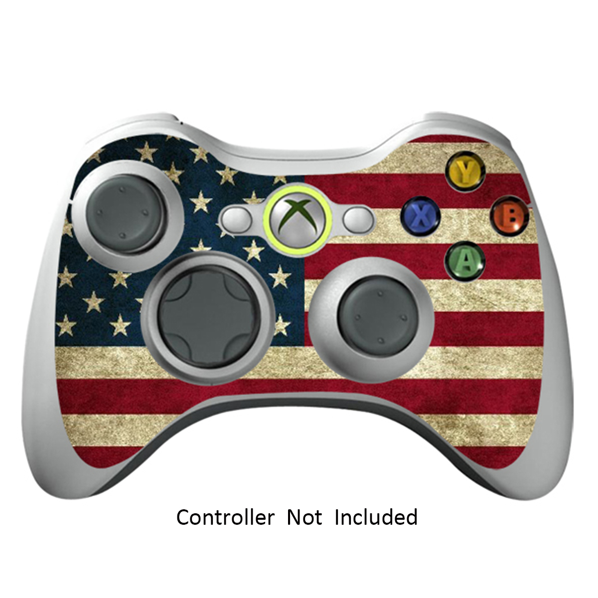 Skin Stickers for Xbox 360 Controller - Vinyl High Gloss Sticker for X360 Slim Wired Wireless Game Controllers - Protectors Stickers Controller Decal - Battle Torn Stripes