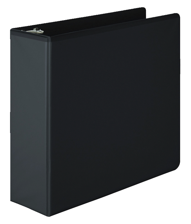 Wilson Jones Basic View Binder, Round Ring, 3 Inches, Black by Acco Brands USA LLC-Acco Products