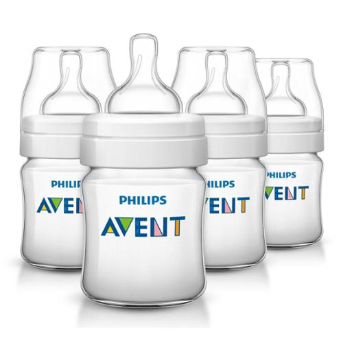 Philips Avent Classic Plus Polypropylene Bottle 4 Ounce 4 Pack