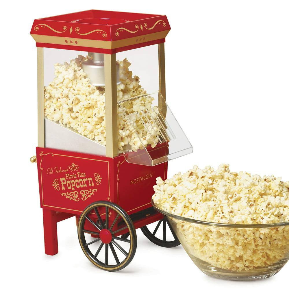 Nostalgia OFP501 Vintage Healthy Hot-Air Tabletop Popcorn Maker, Makes 12 Cups of Popcorn – Red