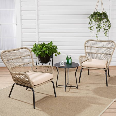 Allstate Patio Furniture.Mainstays Adina Bay Chat Patio Furniture Set Fieldstone 3 Piece
