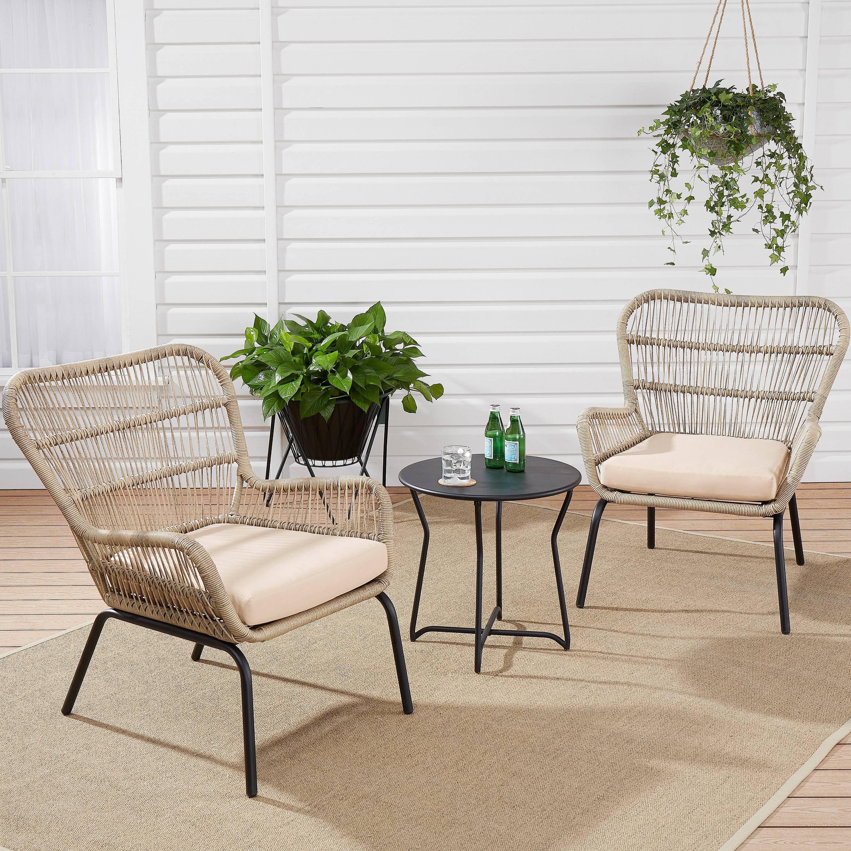 Mainstays Adina Bay Chat Patio Furniture Set, Fieldstone, 3-Piece