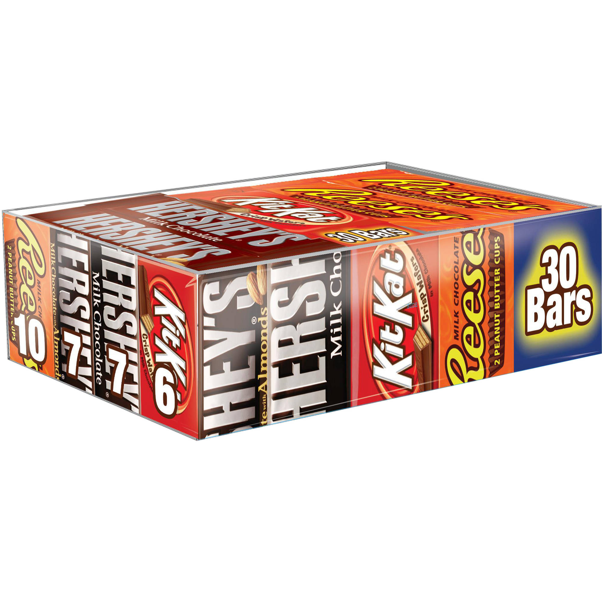 Hershey's Full Size Variety Pack Chocolate Candy Bars, 30 Ct