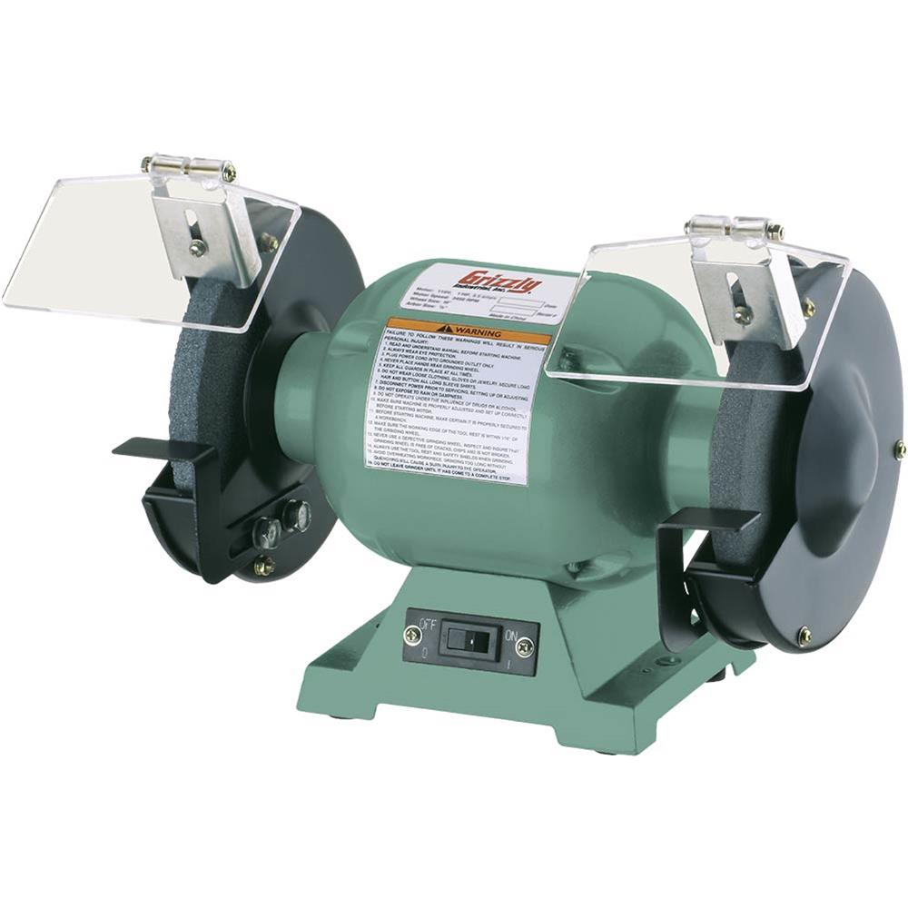 "Grizzly G9717 6"" Bench Grinder w/ 1/2"" Arbor"