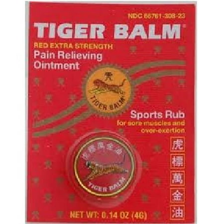 Tiger Balm Red Extra Strength Pain Relieving Ointment - .14 Oz