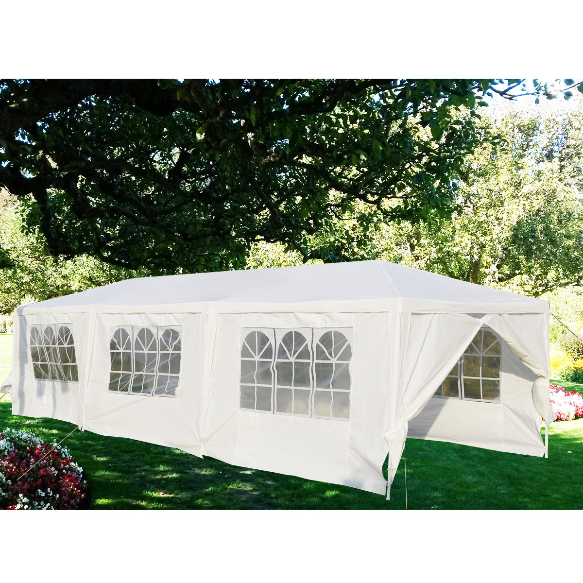 Gymax White Wedding Tent 10'x30'Outdoor Party Canopy Events - image 10 of 10