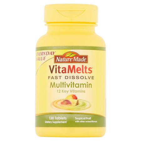 Nature Made VitaMelts Tropical Fruit multivitamines supplément alimentaire Comprimés, 130 count