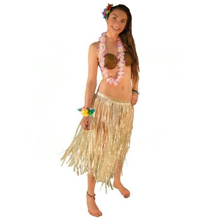 how to make hawaiian table skirt
