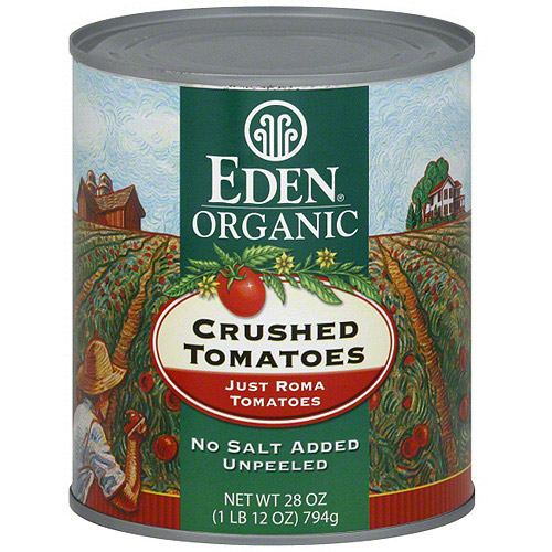 Eden Organic No Salt Added Crushed Tomat