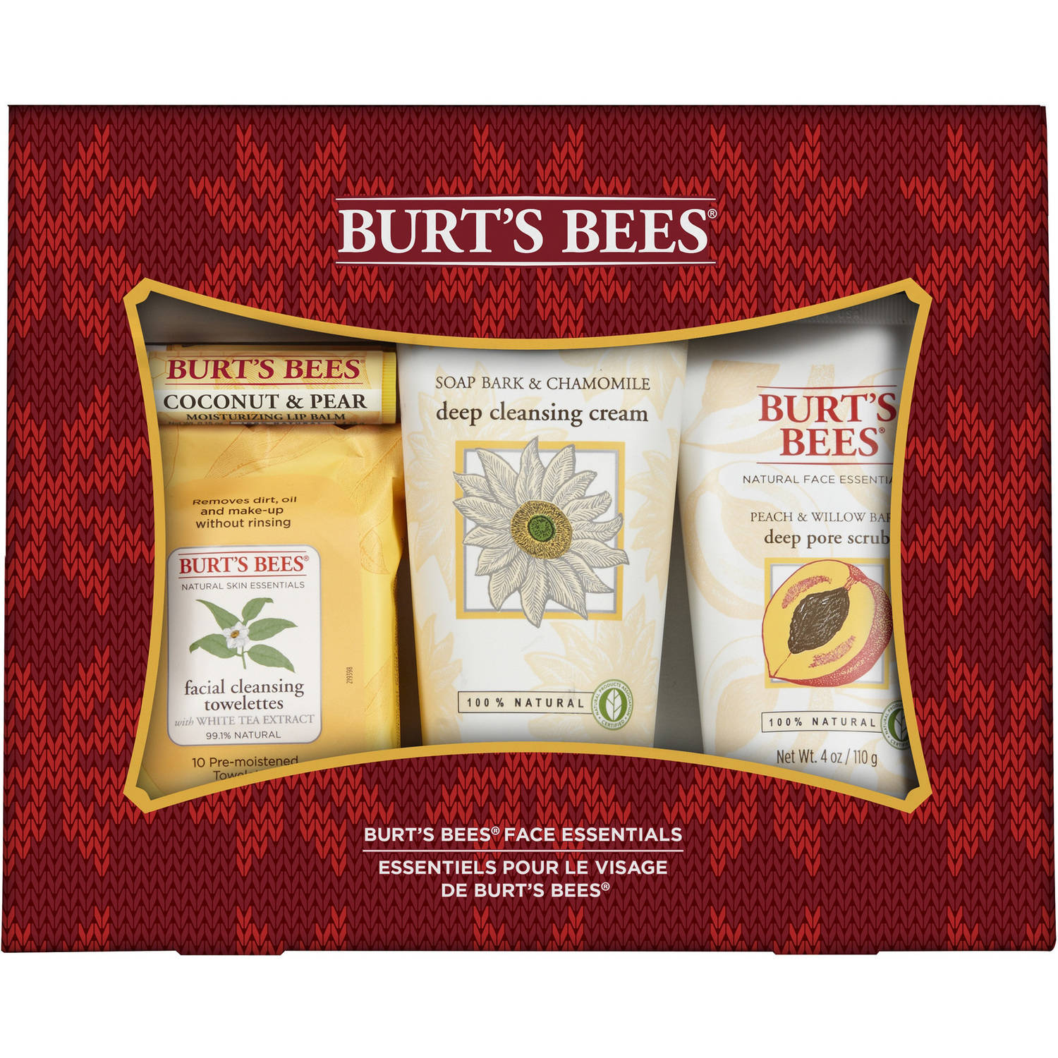 Burt's Bees Face Essentials Holiday Gift Set, 4 pc