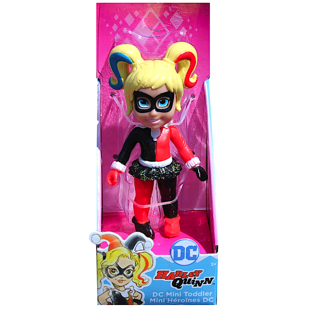 Harley Quinn DC Super Hero Mini Toddler Doll 3/""