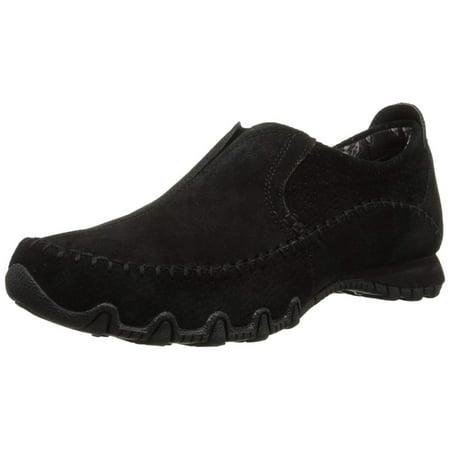 Skechers Women's Bikers Freeway Memory Foam Slip-On Loafer, Black, Size 5.5
