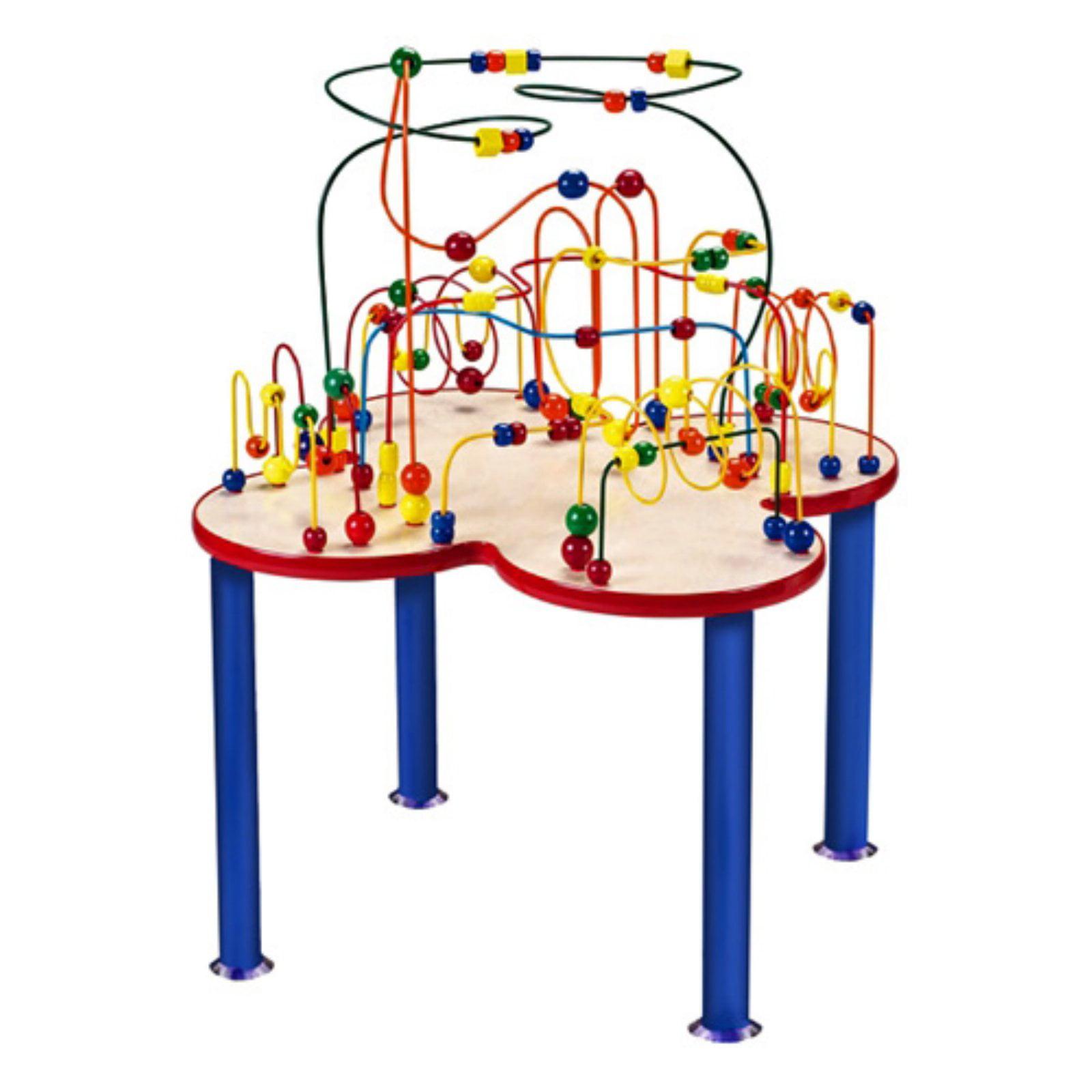 Anatex Fleur Rollercoaster Bead Table with Metal Legs