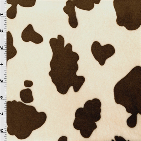 Beige Brown Cow Minky Fabric By The Yard Walmart Com