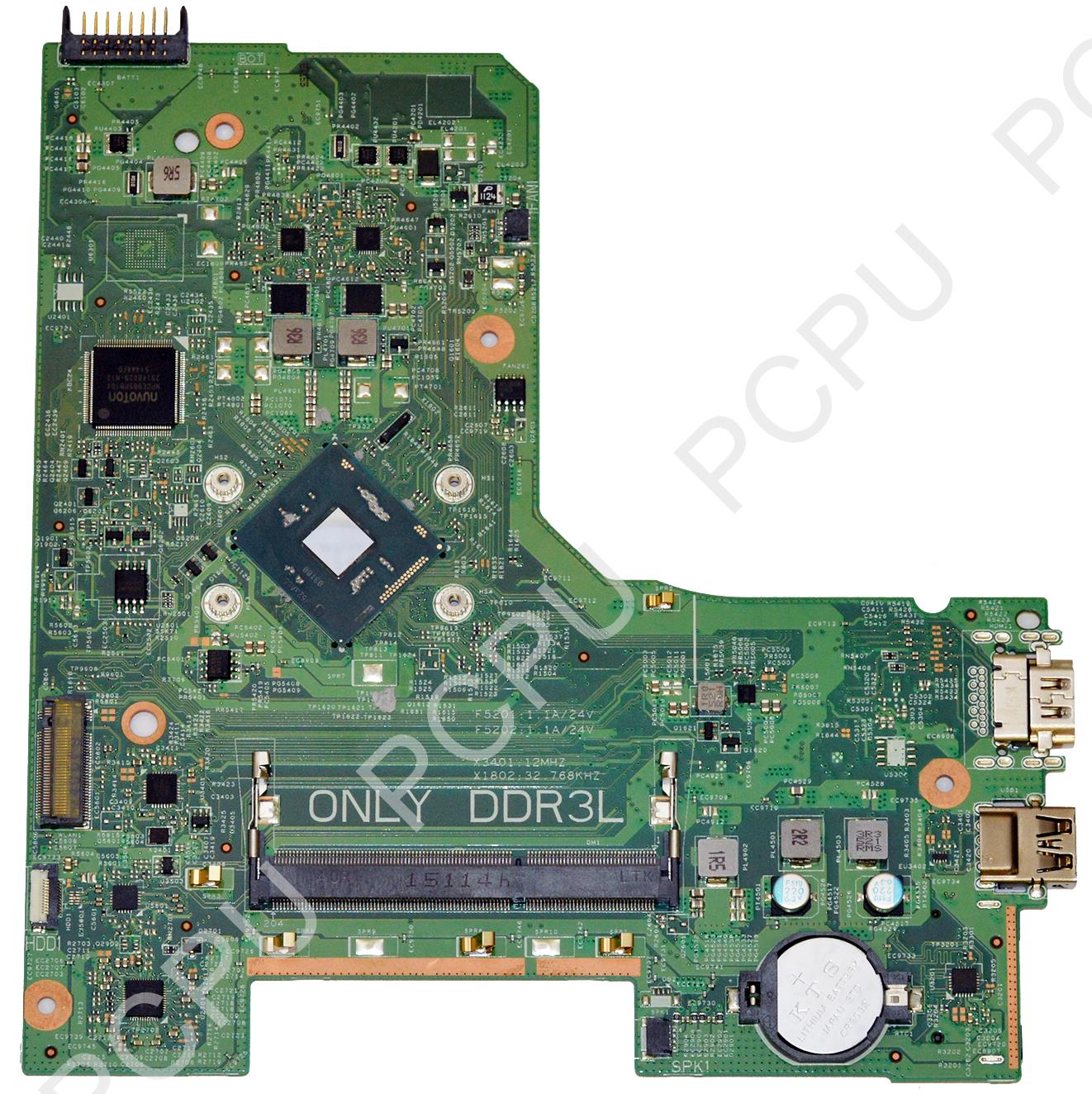 JX7F0 Dell Inspiron 14 3452 Laptop Motherboard w/ Intel Pentium N3700 1.6Ghz CPU