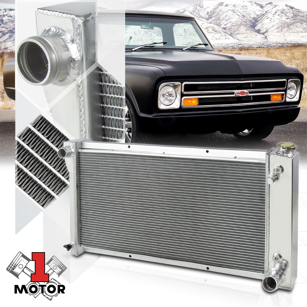 1967 68 69 70 71 72 Chevy Blazer 2 Row Champion Alum Radiator Fan Combo