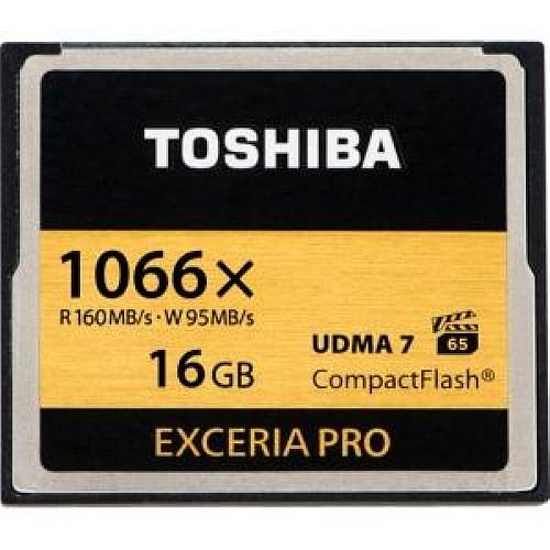 Toshiba 16GB EXCERIA PRO 1066x Compact Flash High Speed Memory Card