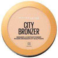 Maybelline City Bronzer Powder Makeup, Bronzer and Contour Powder, 100, 0.32 oz.