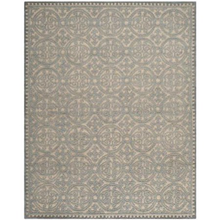 Safavieh Handmade Moroccan Cambridge Dusty Blue/ Cement Wool Rug (11' x 15')