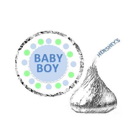 216 Baby Boy Baby Shower Party Favor Hershey's Kisses Stickers / Labels - Baby Boy Shower Party Favor Ideas