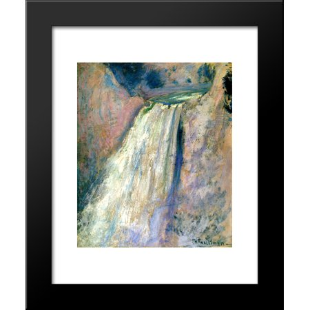 Waterfall, Yellowstone 20x24 Framed Art Print by John Henry Twachtman