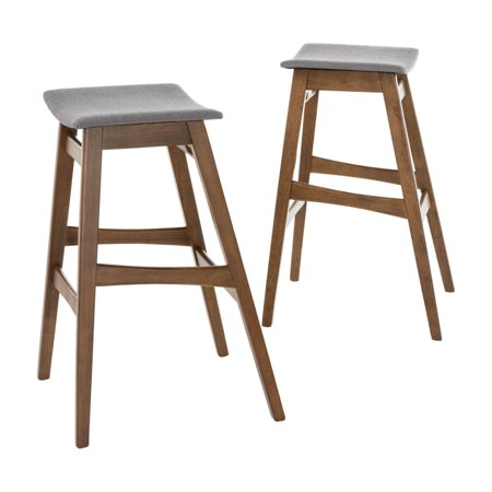 Emmaline 30 in. Backless Saddle Seat Bar Stool - Set of