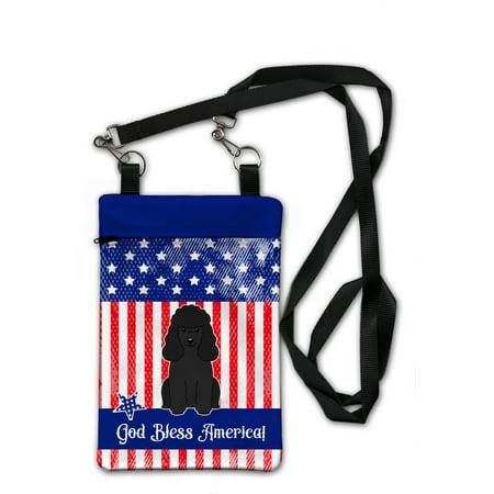 Patriotic USA Poodle Black Crossbody Bag Purse BB3066OBDY