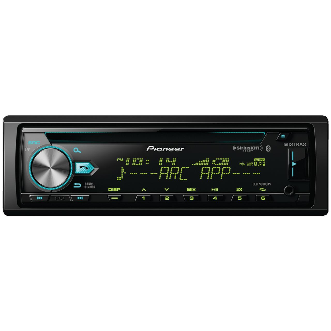 Pioneer DEH-S6000BS Single-DIN In-dash CDReceiver With Bluetooth & SiriusXM Ready