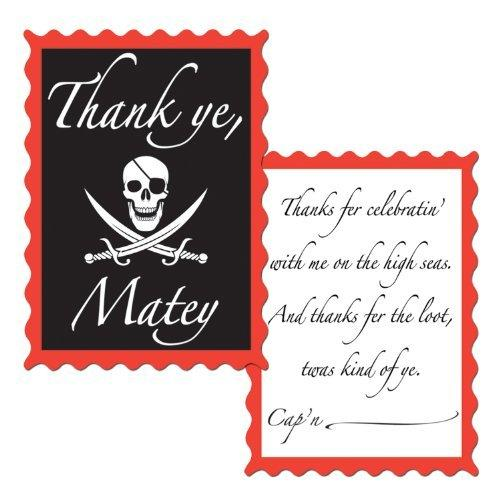 Pirate Thank You Notes (envelopes included)    (8/Pkg)