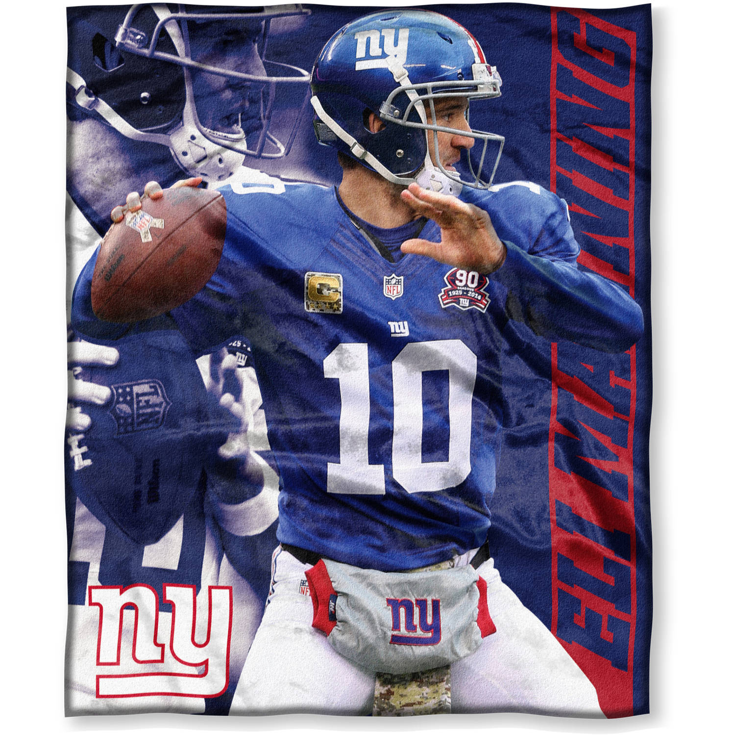 "NFL Players Association Eli Manning 50"" x 60"" NY Giants Players High Definition Silk Touch Throw"