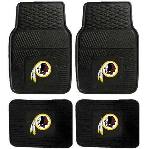 Front and Rear Floor Mats - Vinyl - Car Truck SUV - NFL - Washington Redskins