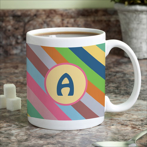 Personalized Colorful Stripes Coffee Mug