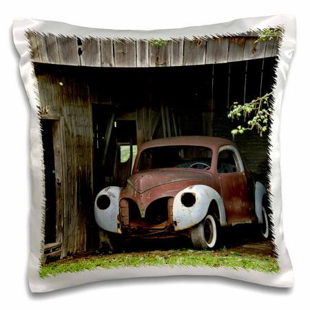 3dRose Old car in barn, Rockport, Massachusetts - US22 AJE0058 - Adam Jones, Pillow Case, 16 by 16-inch