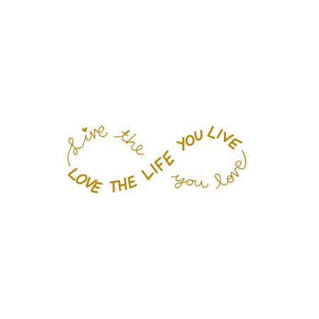 Tattify Inspring Gold Infinity Sign Temporary Tattoo Obvious Set