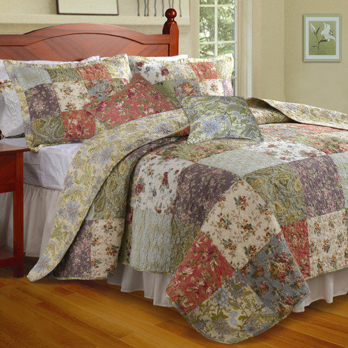 Greenland Home Fashions Blooming Prairie Bonus 5PC Set, King