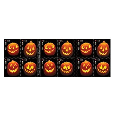 Jack-O'-Lantern Book of 20 USPS one-ounce rate Forever Postage Stamps Halloween Pumpkin Holiday