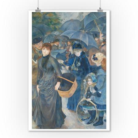 The Umbrellas - Masterpiece Classic - Artist: Auguste Renoir c. 1881 (9x12 Art Print, Wall Decor Travel Poster)