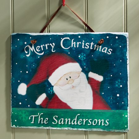 Merry Christmas Plaque - Personalized Merry Christmas Slate Plaque