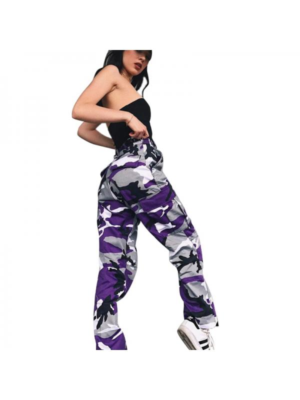 Women Pants Sports Camo Cargo Pants Youth Outdoor Casual Camouflage Trousers Jeans