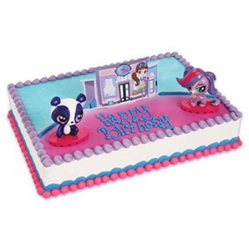 Excellent Bakery Supplies Littlest Pet Shop Cake Topper Decorating Set 2 Funny Birthday Cards Online Alyptdamsfinfo