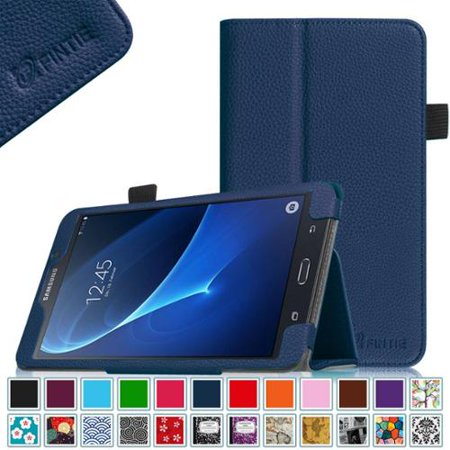 Fit Premium Leather Case - Samsung Galaxy Tab A 7.0 Case - Fintie Premium Vegan Leather Slim Fit Folio Cover for Galaxy Tab A 7 Tablet, Navy