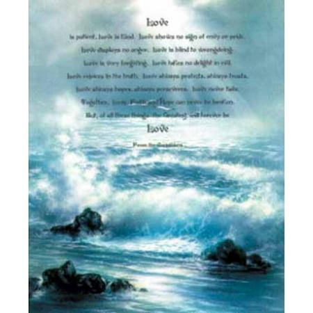 Corinthians (Bible Quote) Art Poster Print Mini Poster - 16x20 - Bible Posters