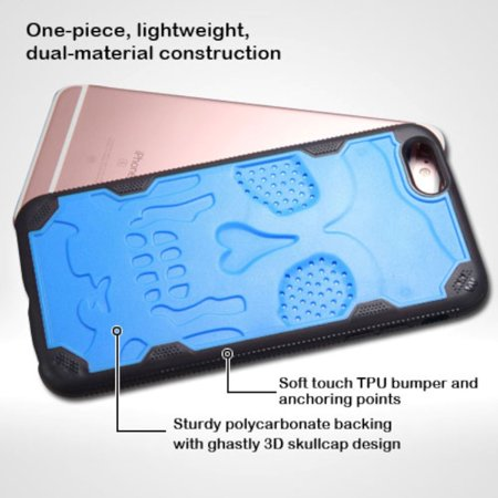 Insten Skullcap Hard TPU Case For Apple iPhone 6 Plus/6s Plus - Blue/Black - image 4 de 7