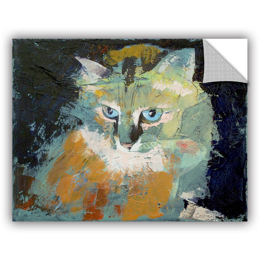 "ArtWall Michael Creese ""Himalayan Cat"" ArtAppealz Removable Wall Art"