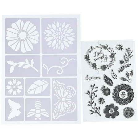 26882 Art-C Stencil & clear Stamp-Flowers & Bugs, Add fun designs to any paper crafting project with these unique stencils and stamps By Momenta - Unique Halloween Pumpkin Stencils