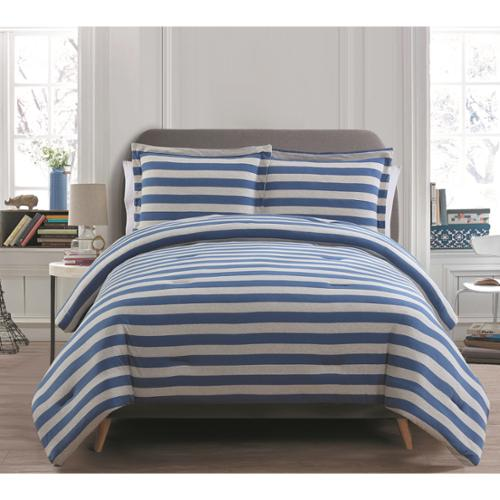 VCNY Emily 3-piece Comforter Set Twin - Navy