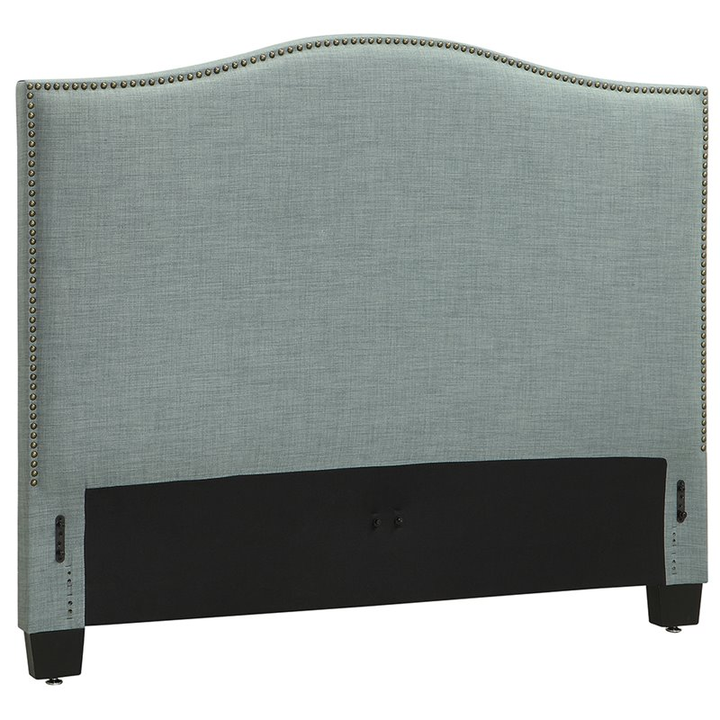 Modus Geneva Camelback California King Panel Headboard in Bluebird by