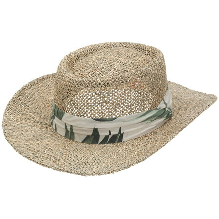 4b70a77244394 San Diego Hat Co. Mens Seagrass Panama Fedora Hat and Cloth Band sgm502