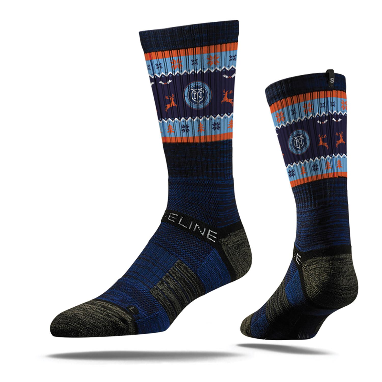 New York City FC Unisex Ugly Christmas Sweater Socks - OSFA